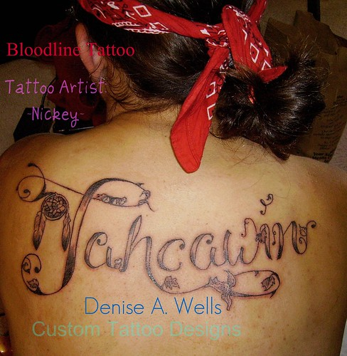 name tattoo design by denise a wells i went with ista to flickr. Black Bedroom Furniture Sets. Home Design Ideas
