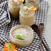 Thai desserts. Coconut milk baked custrd.