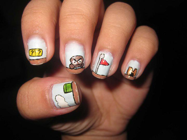 super mario world sequence nail art design | supe mario worl… | Flickr