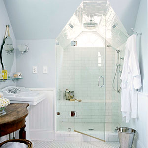 Better Homes and Gardens traditional white bathroom | by decorology