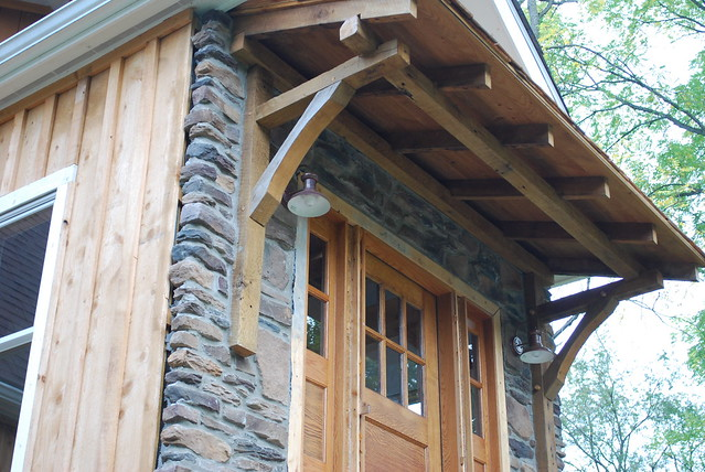 Timber frame porch flickr photo sharing for Timber frame screened porch