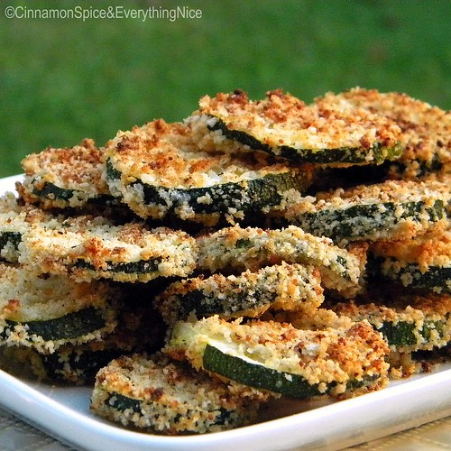 Oven-Fried Parmesan Zucchini Chips | by CinnamonKitchn