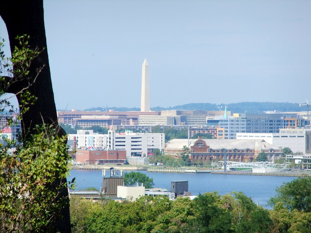 View of Downtown DC from Frederick Douglass House, Anacost ...
