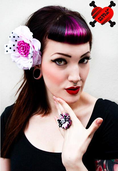 Rockabilly Fuchsia Rose Polka Dot Pink Hair Flower Flickr
