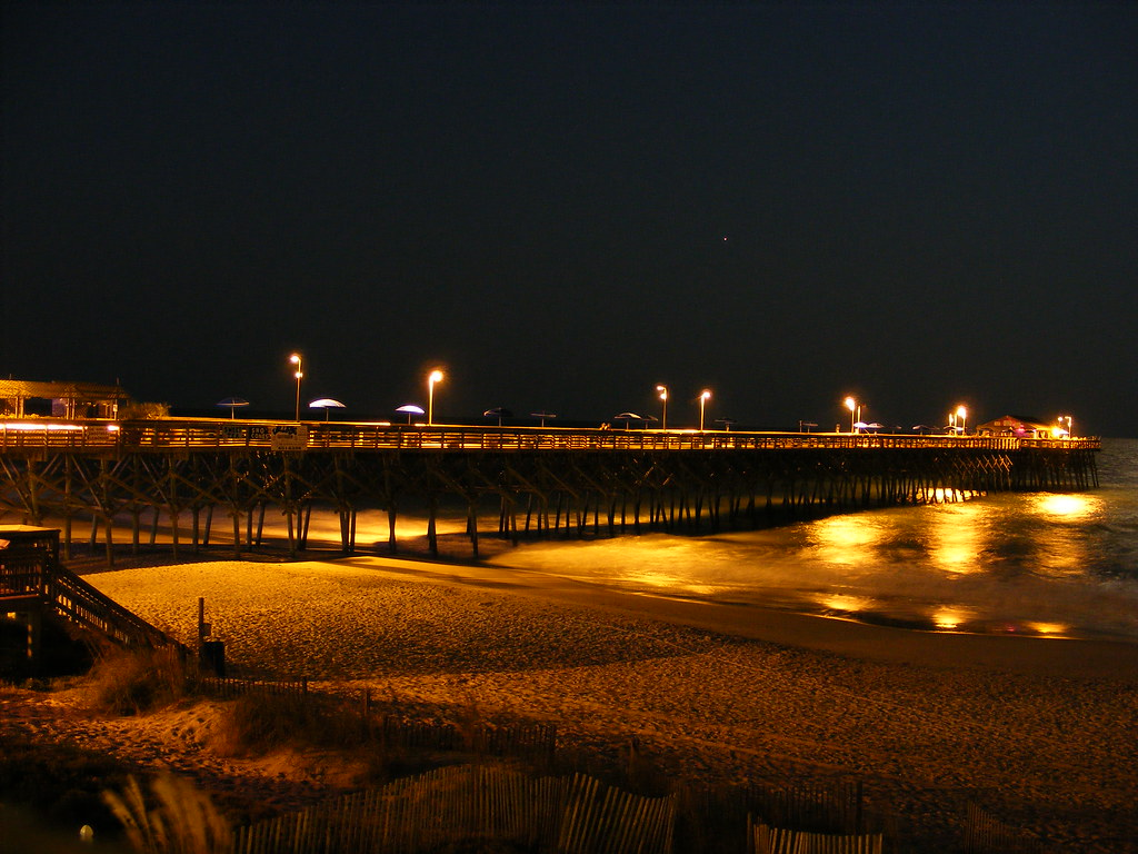 Garden City Pier At Night Myrtle Beach Sc Pacdog