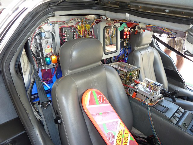 back to the future movie car interior flickr photo sharing. Black Bedroom Furniture Sets. Home Design Ideas