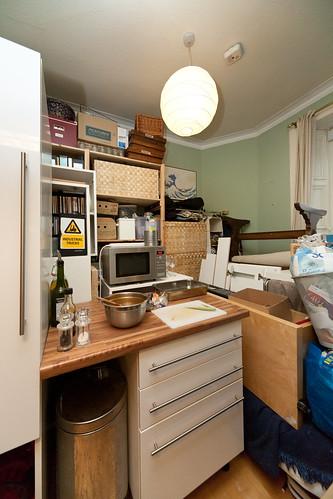 Our temporary kitchen arrangements dave morris flickr for Kitchen arrangements photos