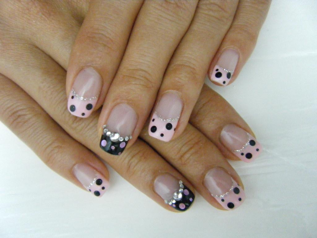 pink dots french gel nail | Negril Nail Art | Flickr