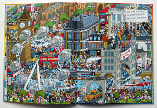 Where's Stig? The World Tour - London spread from the book | by Rod Hunt Illustration