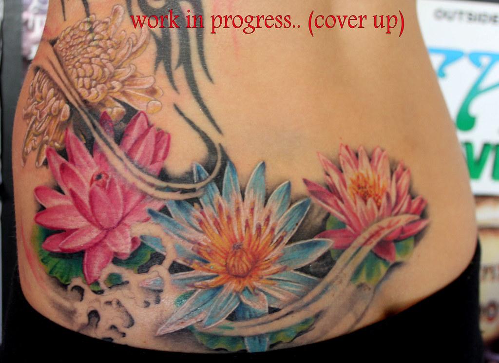 Flowers Cover Up Tattoo By Mirek Vel Stotker Stotker Flickr