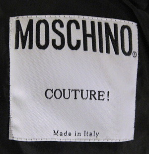 Moschino couture dress label moschino couture label from for Couture labels