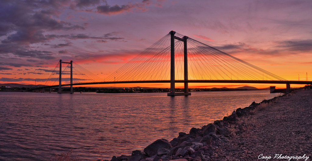 Cable Bridge Sunset Panorama Must View Large This Is A