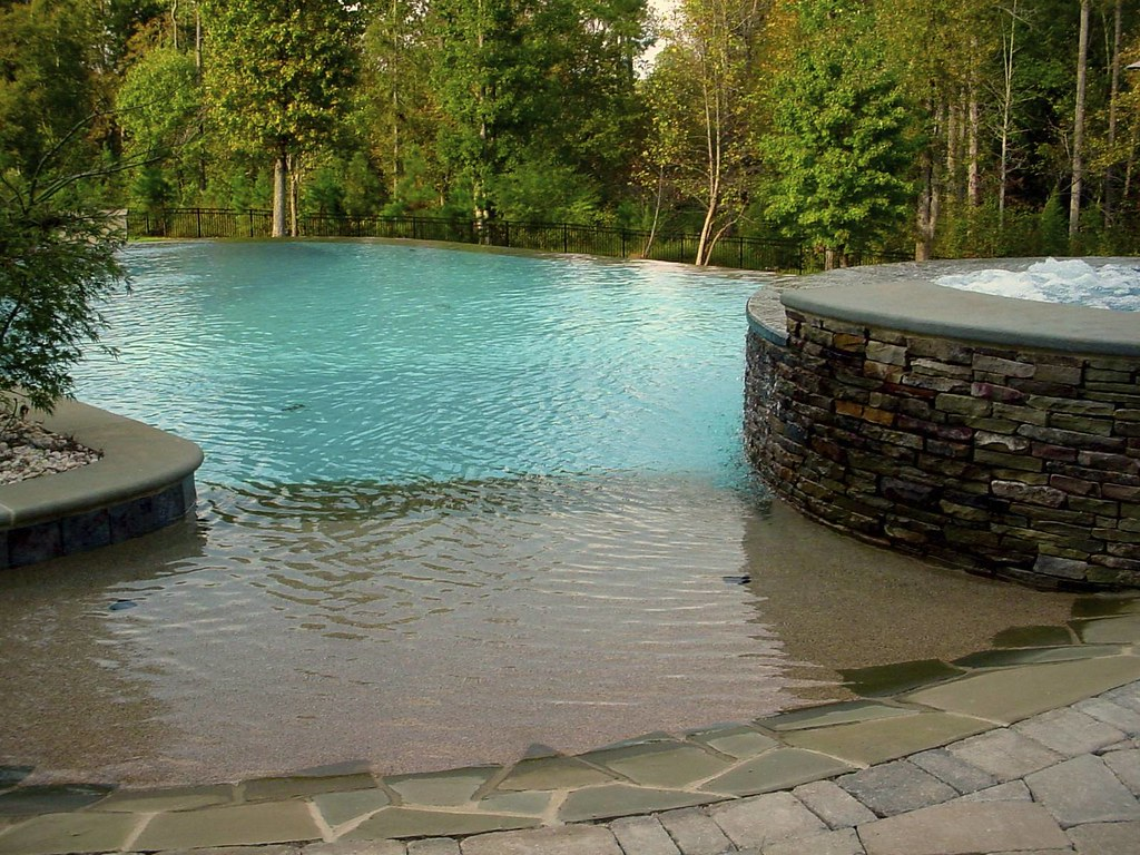 Beach Entry Swimming Pool - Frank Bowman Designs | www.Frank… | Flickr