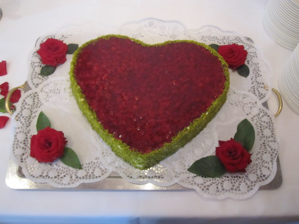 Raspberry Wedding Cake