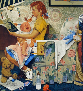 1947 ... The Babysitter - Norman Rockwell | by x-ray delta one