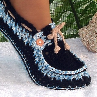 Adult Button Loafers Crochet Pattern | by Genevive_Too