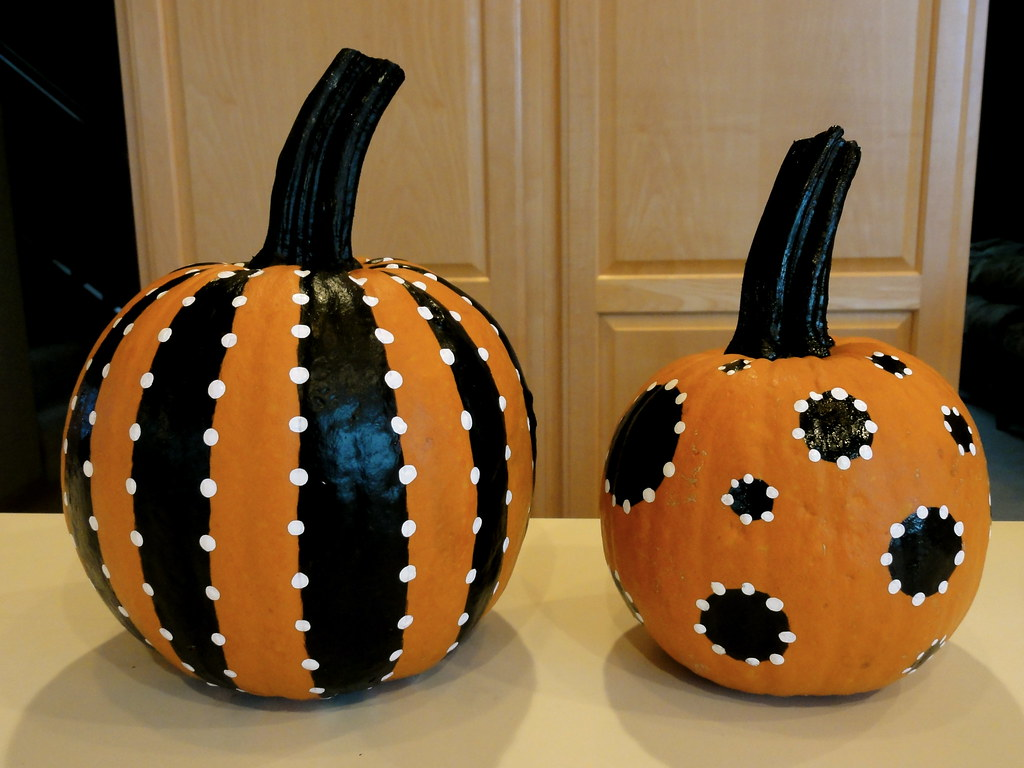 pretty painted pumpkins flickr