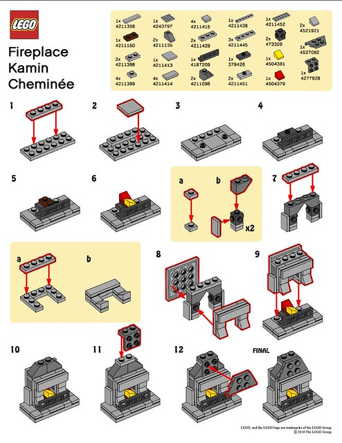 lego mmmb november 39 10 fireplace instructions flickr photo sharing. Black Bedroom Furniture Sets. Home Design Ideas