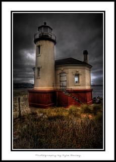 Coquille Lighthouse / HDR / Beach / Bandon / Oregon / Kyle Bailey / Clouds / Ocean / Water / Texture / Coquille River / Canon | by Kyle Bailey - Da Big Cheeze