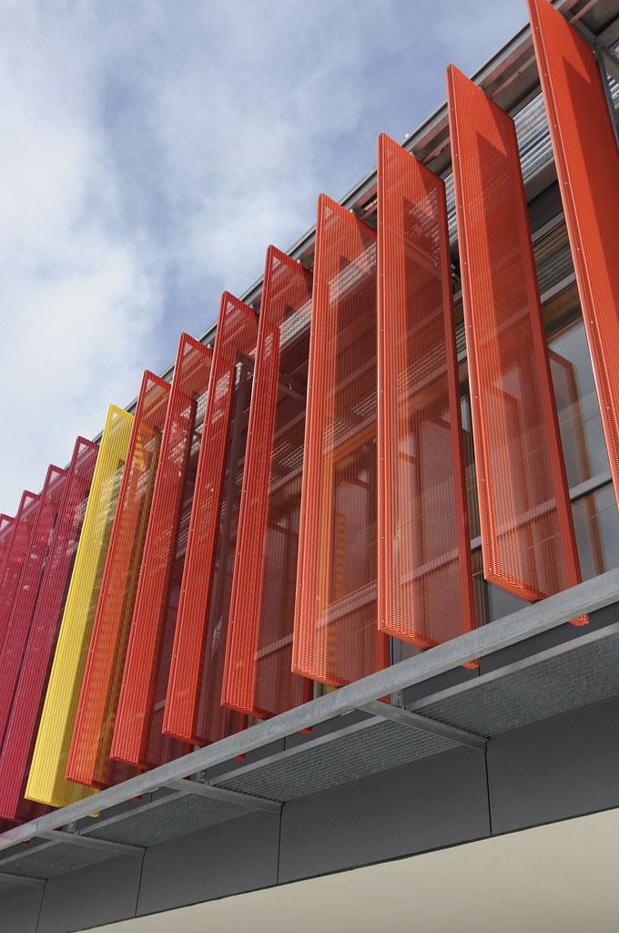 Front In Aluminium Panel Facades : Grundschule germany the gundschule in has