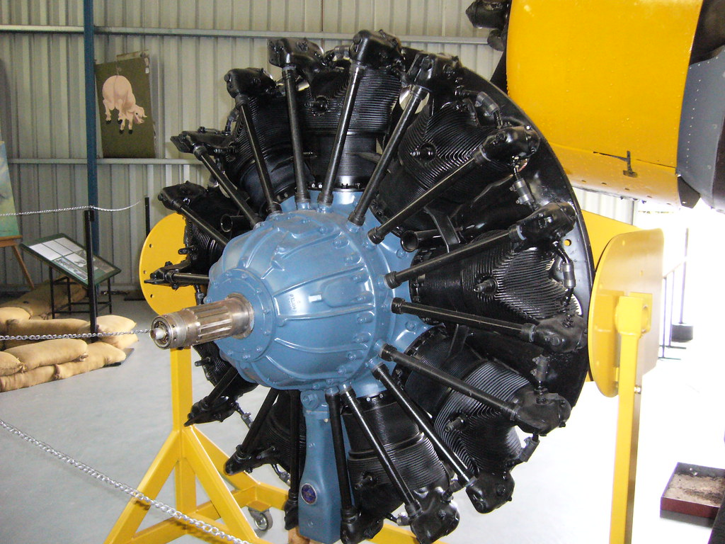 CAC-built Pratt & Whitney R-1340 S1H1-G Wasp radial engine ...
