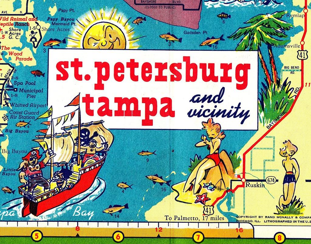 RETRO FLORIDA Gulf Oil Road Map Detail Brian Flickr