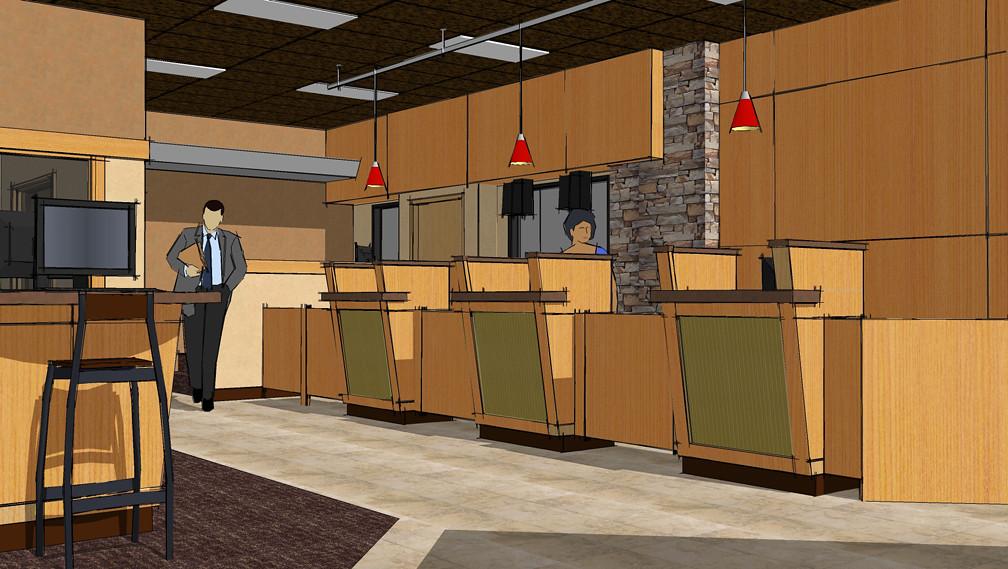 bank design teller line design washington business ban. Black Bedroom Furniture Sets. Home Design Ideas