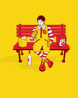 'Unhappy Meal' illustration | by Ben Davies Design