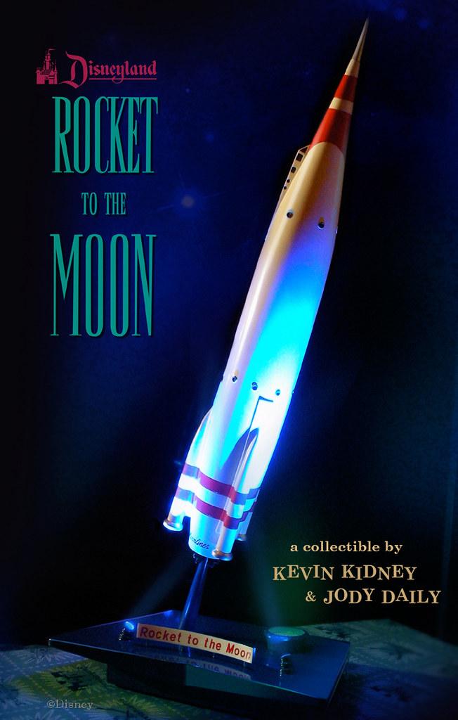 Disneyland Rocket To The Moon Replica An Illuminated