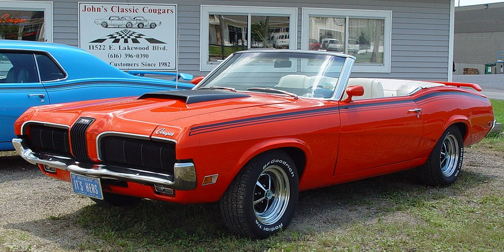 Red \'60\'s Cougar Muscle Car @ John\'s Classic Cougars - Hol… | Flickr