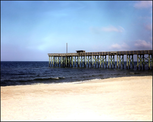 1950s Kodak Tourist At The Fishing Pier All Rights