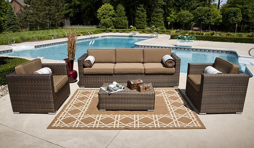 Taryn Collection 4-Piece Wicker Deep Seating Set | by Open Air Lifestyles, LLC