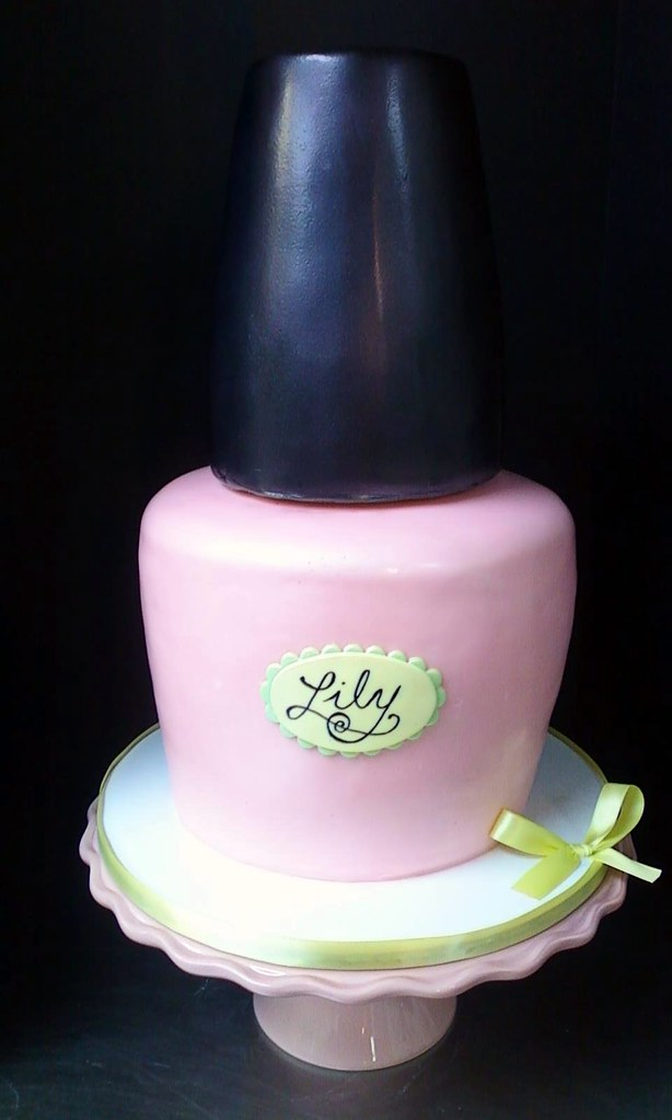Nail Polish Bottle Birthday Cake