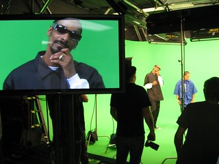 Snoop working the camera | by Bob Bekian