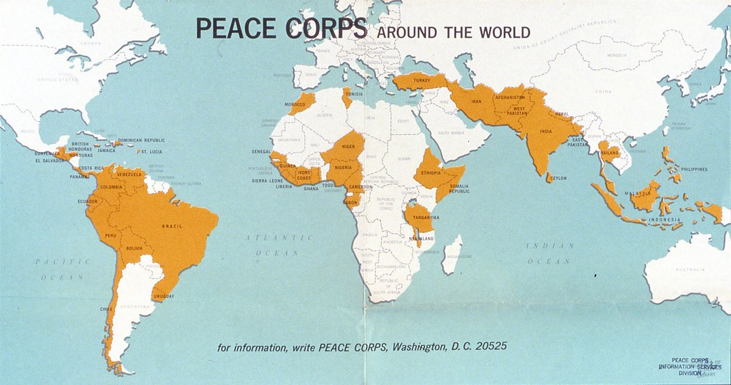 Peace corps around the world map rpcvhi flickr peace corps around the world map by rpcvhi publicscrutiny Image collections