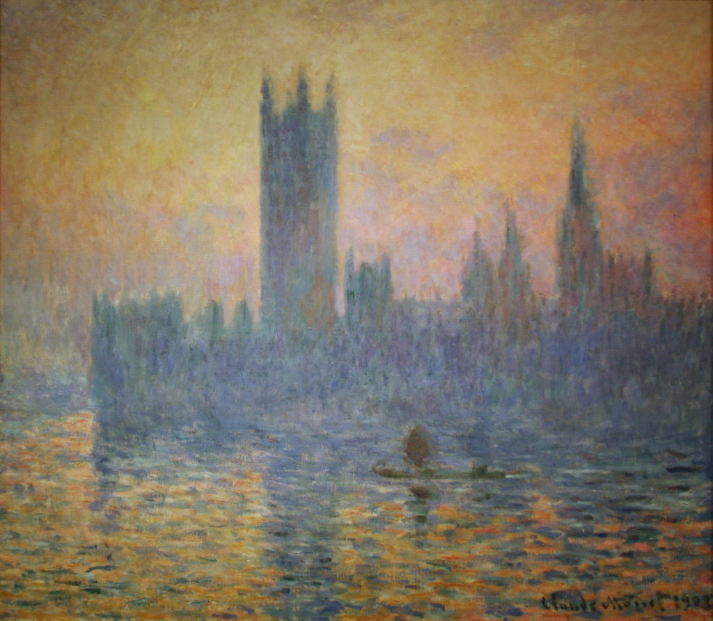 the houses of parliament sunset by claude monet the