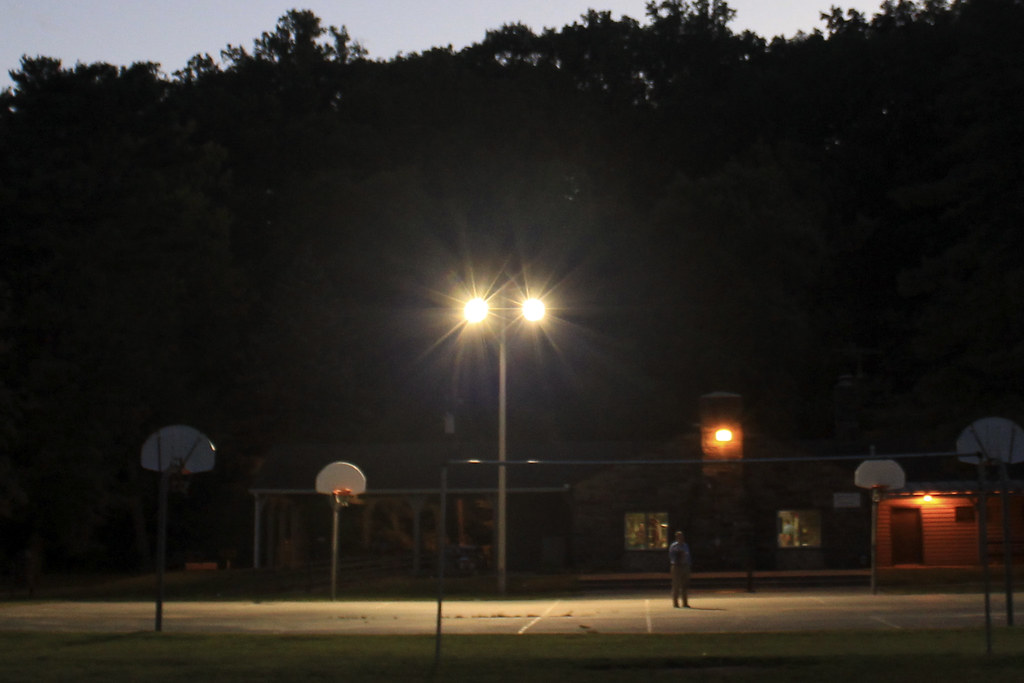 late night basketball court | Background image of ...