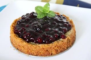SMS Lemon Blueberry Buttermilk Pie | by Tracey's Culinary Adventures