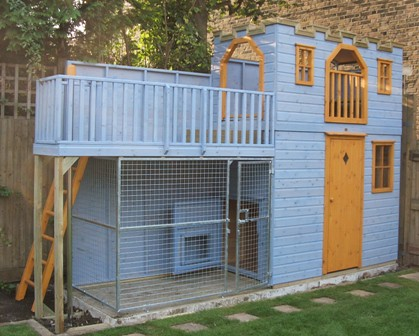 Children S Playhouse With Dog Run Project Code Pc050940