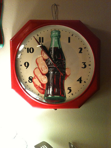 deco coca cola clock large coke bottle w hand wall cloc flickr. Black Bedroom Furniture Sets. Home Design Ideas