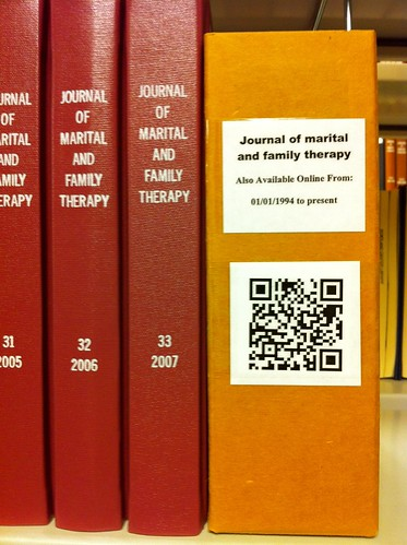 QR codes in the stacks | by Robin M. Ashford