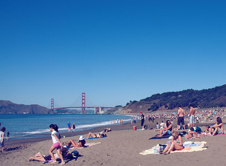 Baker Beach Crowds | by Mills Baker