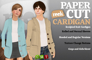 Reek - Papercut Cardigan Ad | by Riq Graves