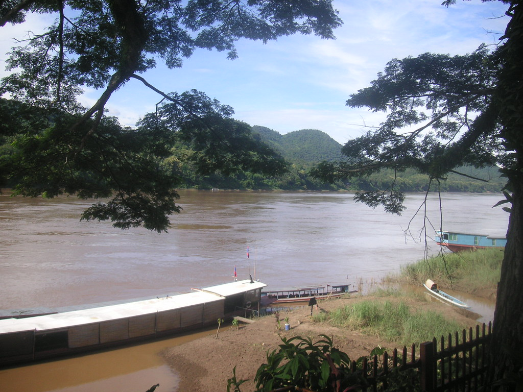 The Mekong River from Big Tree cafe, Luang Prabang