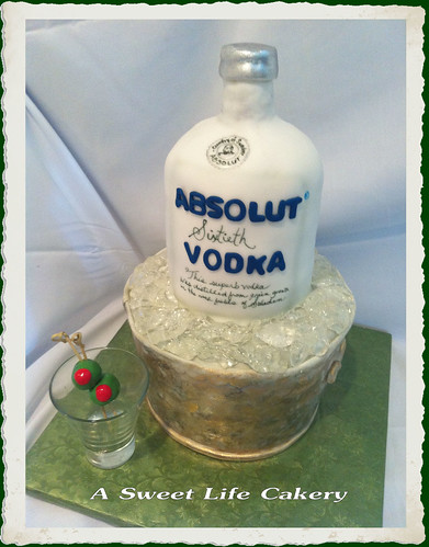 birthday cake vodka absolut 60th birthday cake i created this absolut vodka 1785