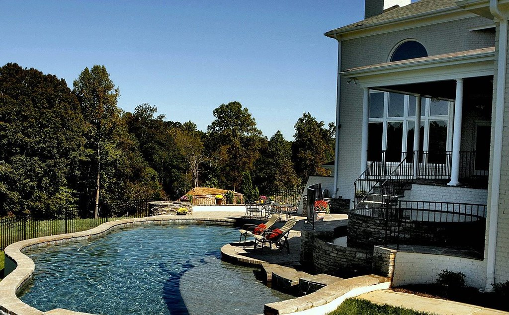 Outdoor oasis swimming pool frank bowman designs flickr for Garden oases pool entrance