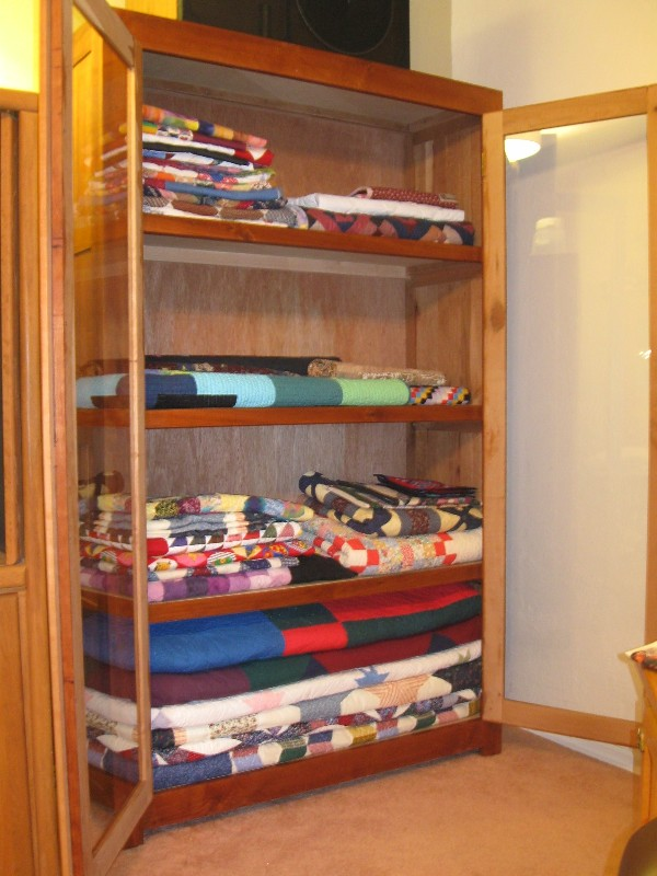 Homemade Cherry Wood Quilt Display Cabinet | OPEN DOOR VIEW … | Flickr : quilt display cases - Adamdwight.com
