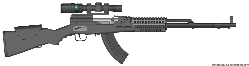 SKS Enhanced Rifle | Full-auto Enhanced version of SKS
