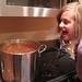 Lindsay eating chili