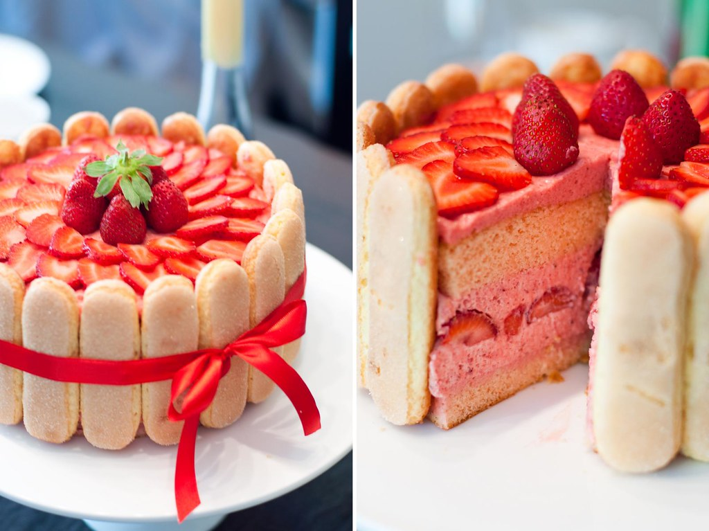 Strawberry Log Cake Recipe